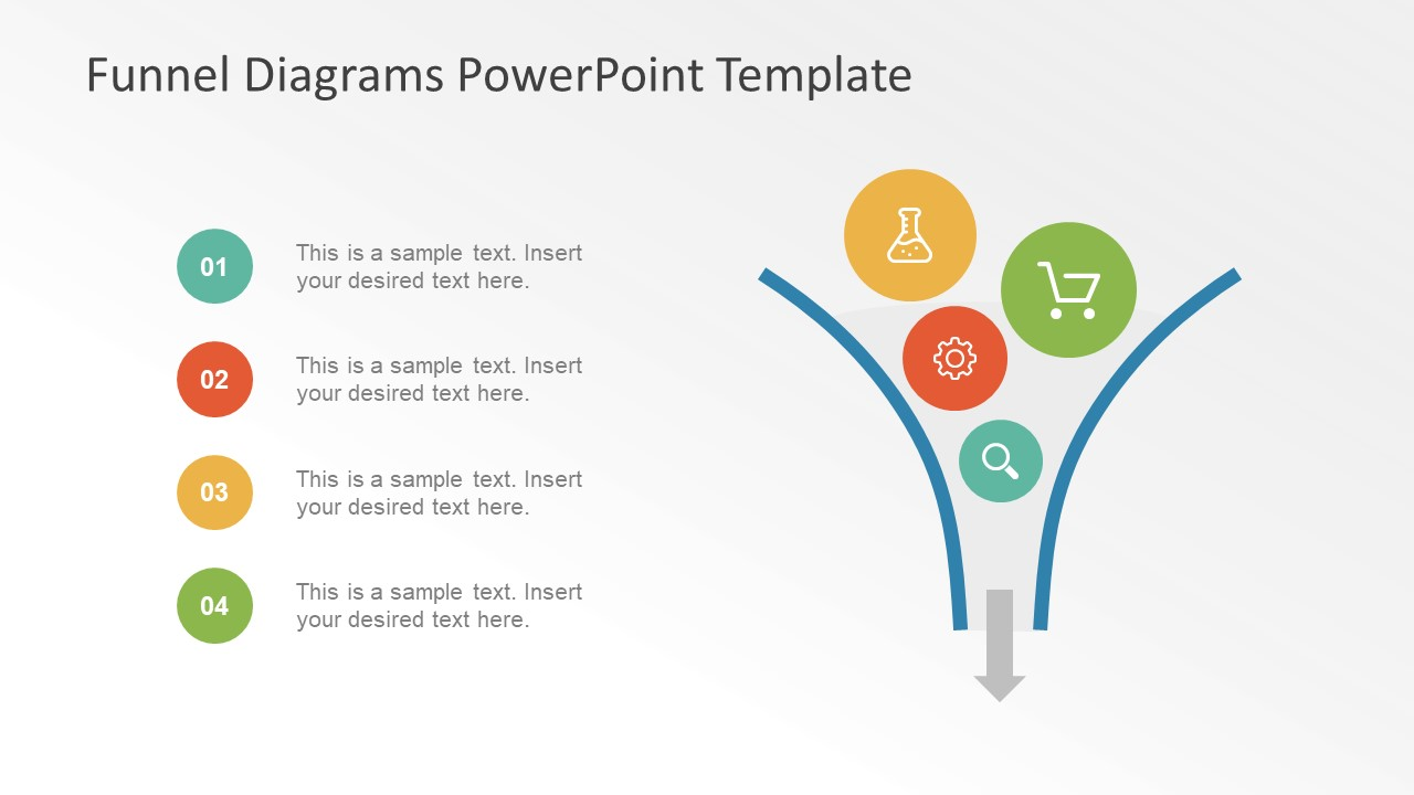 image and bullet list layout funnel powerpoint