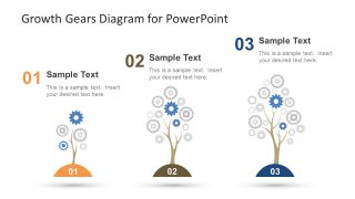 Growth Gears Diagram for PowerPoint