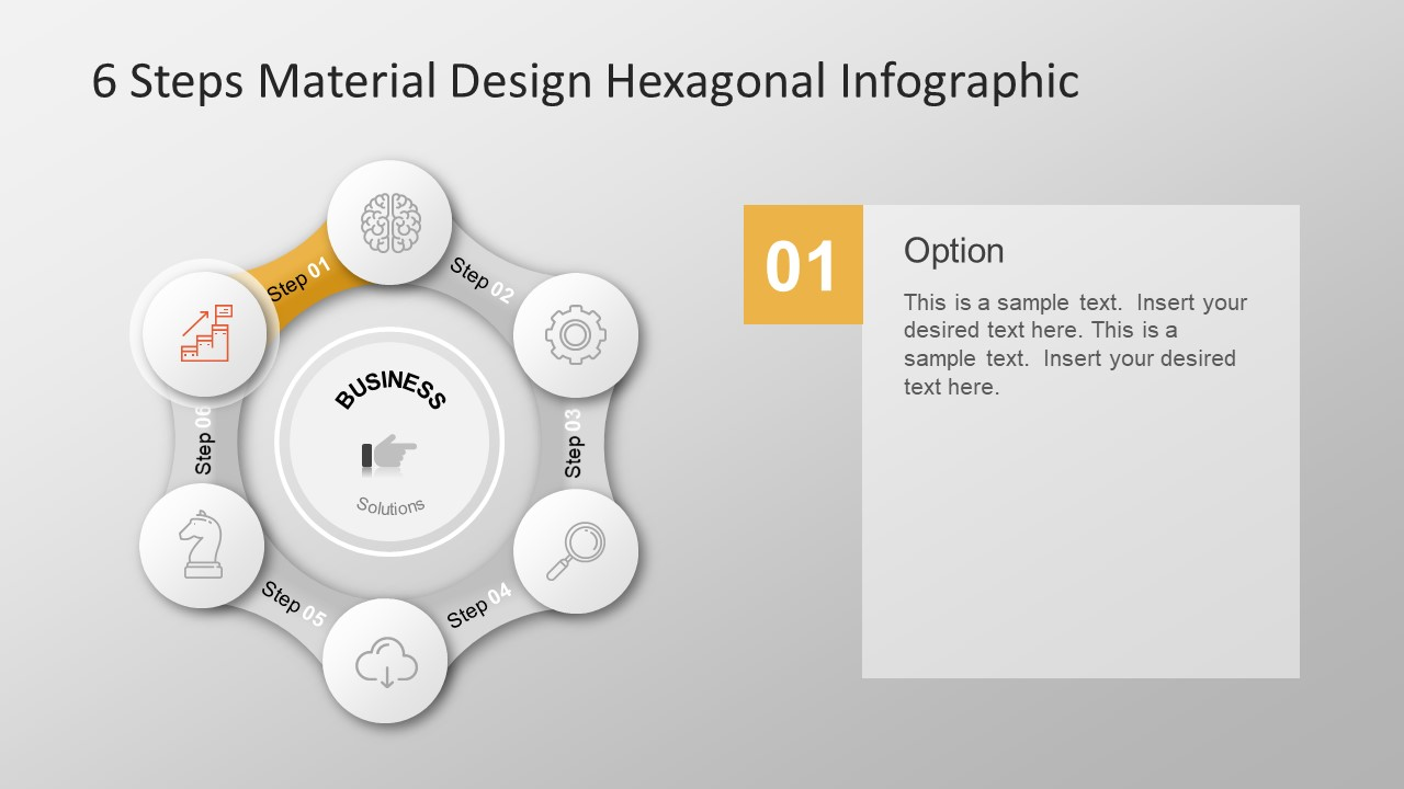Infographic Shapes Six Step Template