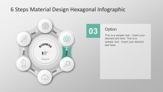 Material Design PowerPoint Template of Hexagonal
