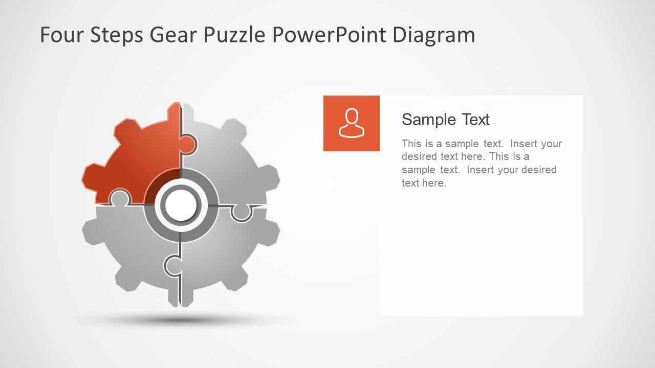 Slide of Gear Shape Puzzle Diagram