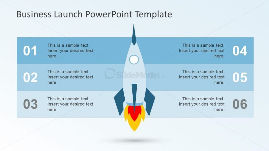 Rocket Illustration PowerPoint for Business