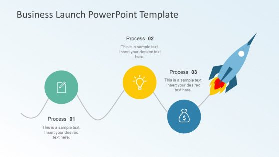 Three Stage PowerPoint Diagram for Business