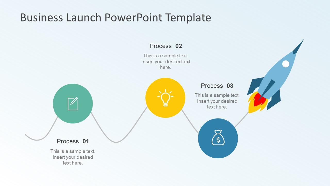 Business launch powerpoint template slidemodel rocket illustration powerpoint for business roadmap business venture plan template toneelgroepblik Images