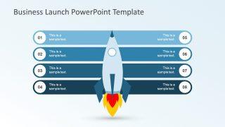 Eight Bullet List Rocket Graphics Slide
