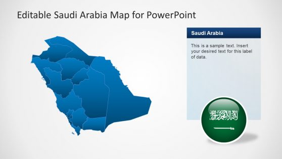 Map Presentation of Middle East Country