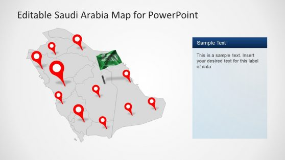 Template Slide of Editable Saudi Arabia Map