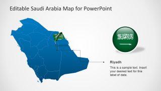 Flag Highlight Capital City Saudi Arabia