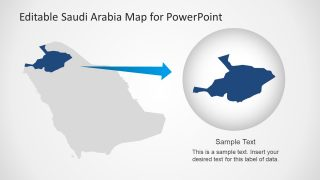 Color Customization on Saudi Arabia Map Presentation