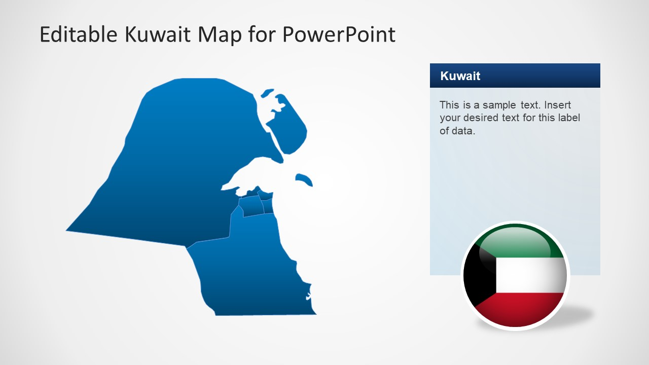 Editable kuwait powerpoint map template slidemodel shapes of powerpoint for kuwait map slide of editable powerpoint map toneelgroepblik Images