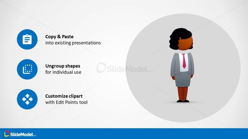 Reusable Cartoon Figure Slide Presentation