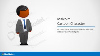 Template of Cartoon Character in PowerPoint