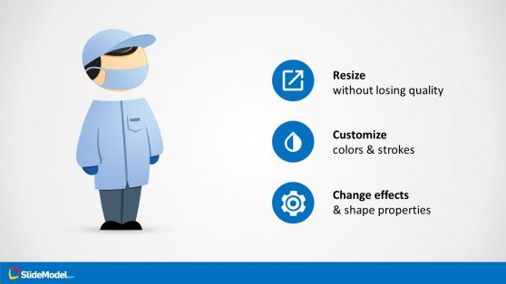 Editable Shape of Mike Character Slide