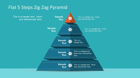 Pyramid Diagram Template 5 Segment