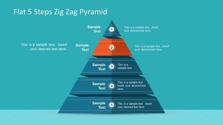 Zig Zag Style Pyramid Diagram