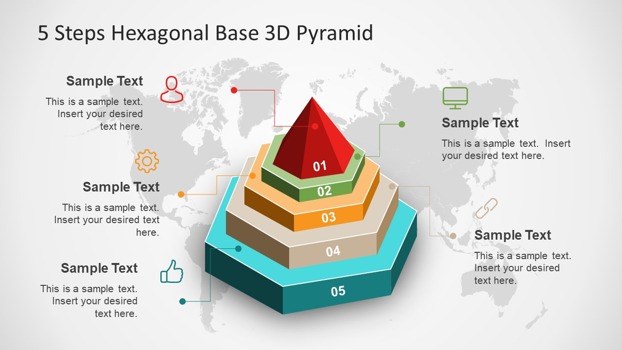 PowerPoint Diagram of Hexagonal Shape