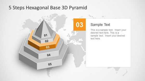 5 Stage PowerPoint Diagram Hexagonal