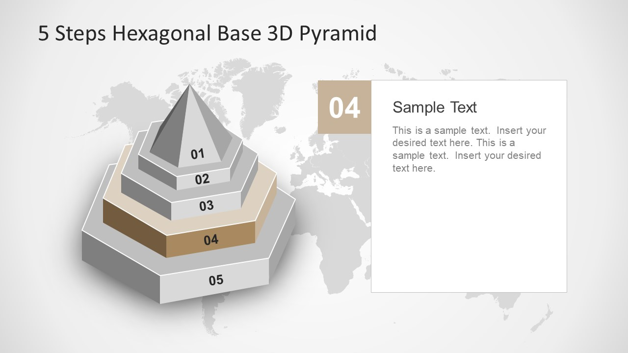 5 Step Hexagonal Base PowerPoint