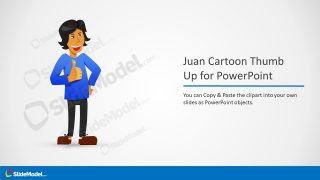 PowerPoint Editable Thumb Up Cartoon