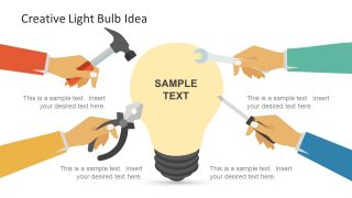 Creative Light Bulb PowerPoint Shape
