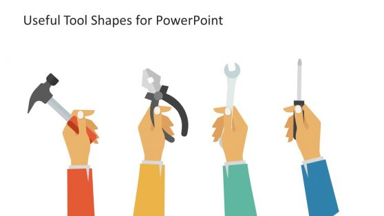 PowerPoint Shapes of Tools and Hands