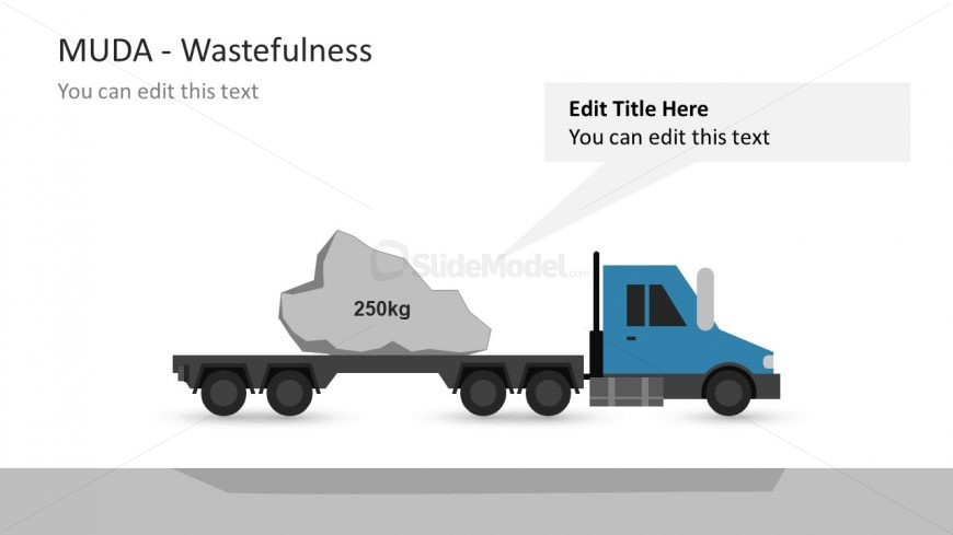 Logistic Truck Shape Muda Template