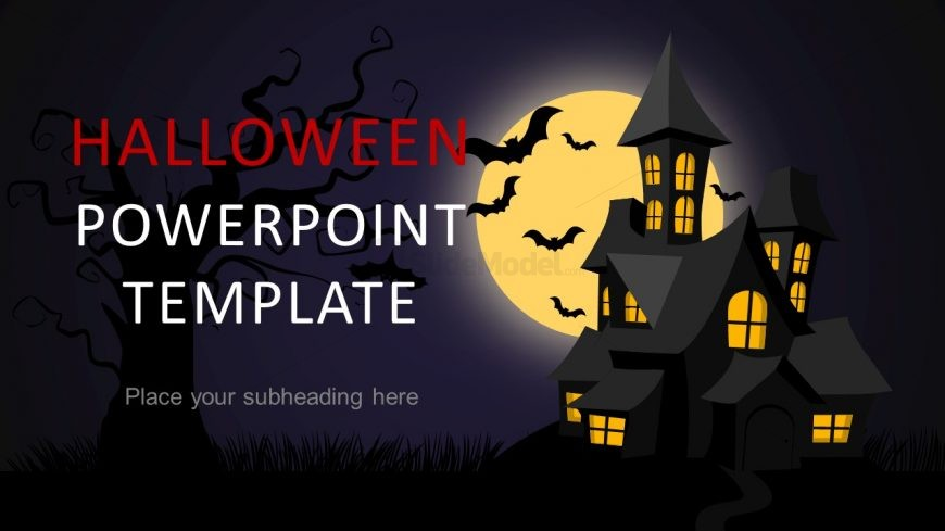 halloween theme powerpoint template slidemodel. Black Bedroom Furniture Sets. Home Design Ideas