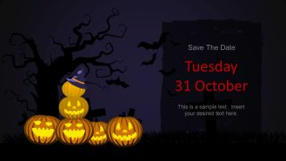 Halloween Style Jack-o-Lantern Template