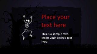 Skeleton and Background Graveyard