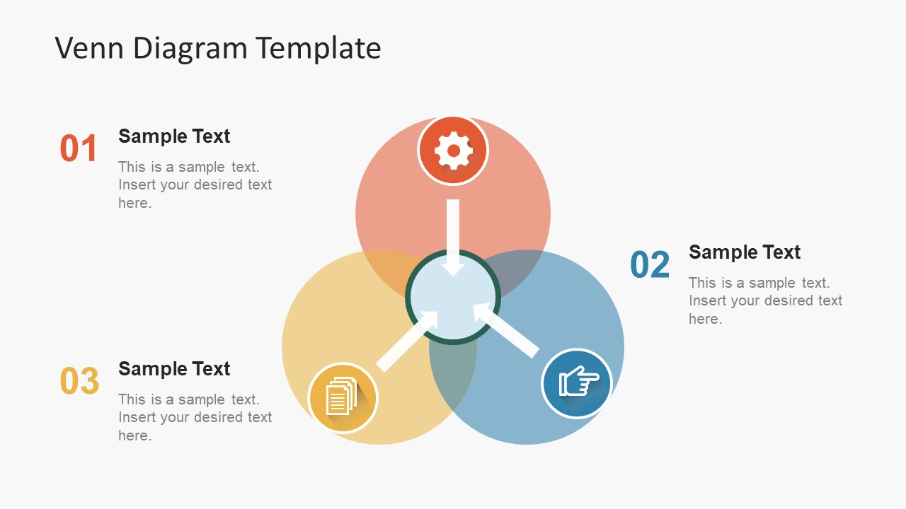 Simple flat venn diagram powerpoint template slidemodel simple flat venn diagram powerpoint template pooptronica Images