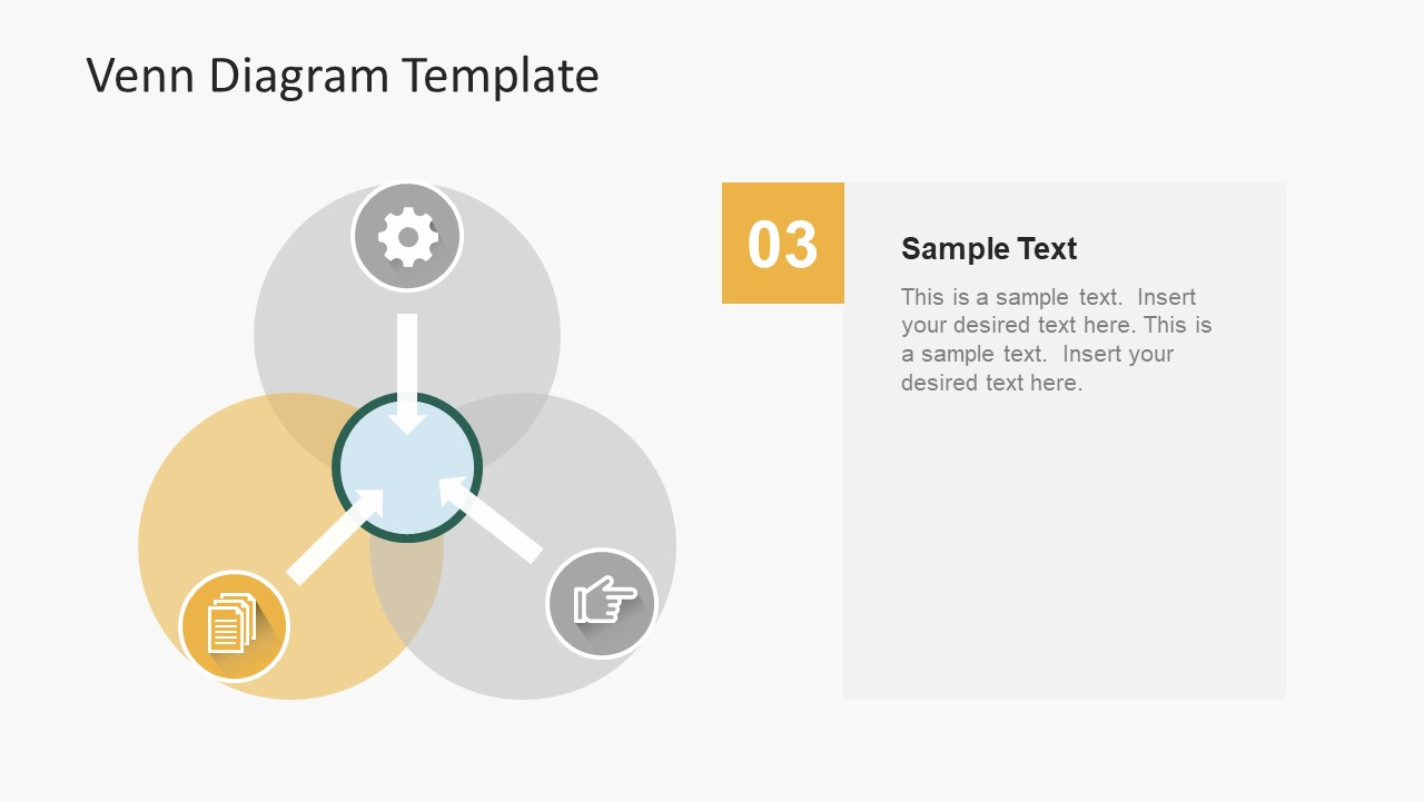 Simple flat venn diagram powerpoint template slidemodel flat vector powerpoint of venn diagram pooptronica Images