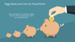 Piggy Bank and Coin for PowerPoint