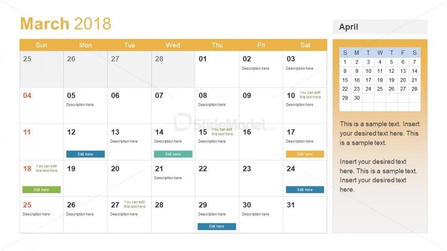 editable calendar slide for new year slidemodel. Black Bedroom Furniture Sets. Home Design Ideas