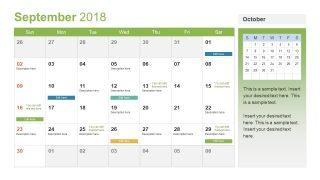Creative September Calendar PPT