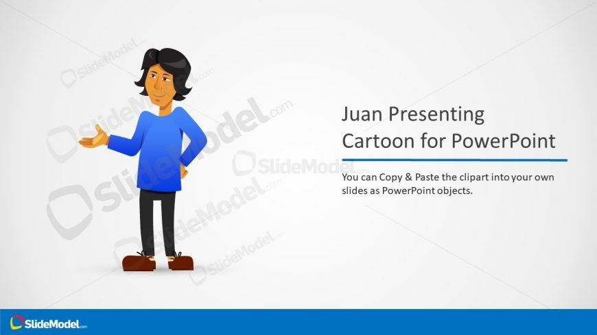 Editable Juan Cartoon Character Template