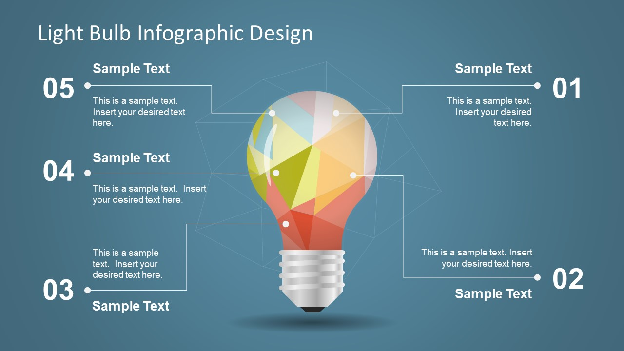 Slide Design Powerpoint Templates Diagram Of Incandescent Light Bulb Infographic