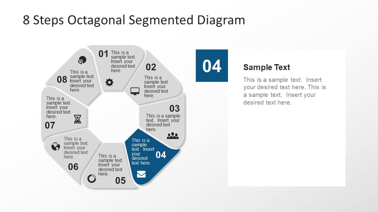 Segments of Octagon in PowerPoint
