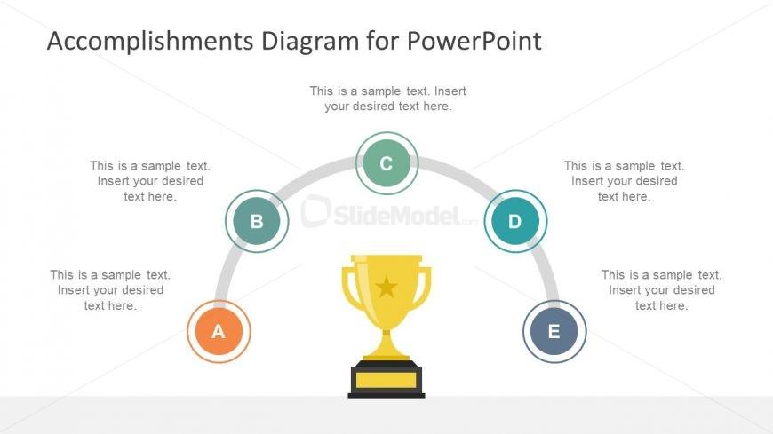 5 step accomplishment diagram presentation - slidemodel, Achievement Presentation Template, Presentation templates