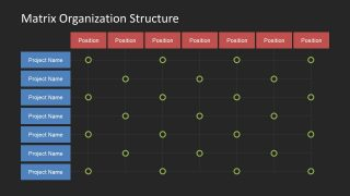 Template Background of Matrix Organizational Structure