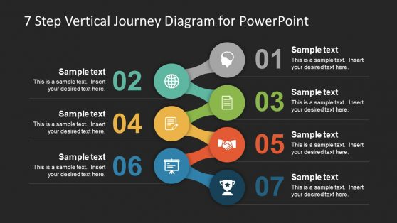 7 Step Vertical PowerPoint Diagram