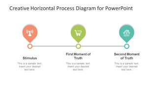 Creative Horizontal Process Diagram for PowerPoint