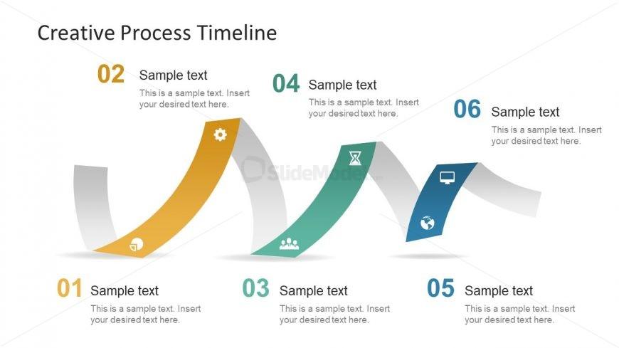 Timeline Presentation of 6 Milestones