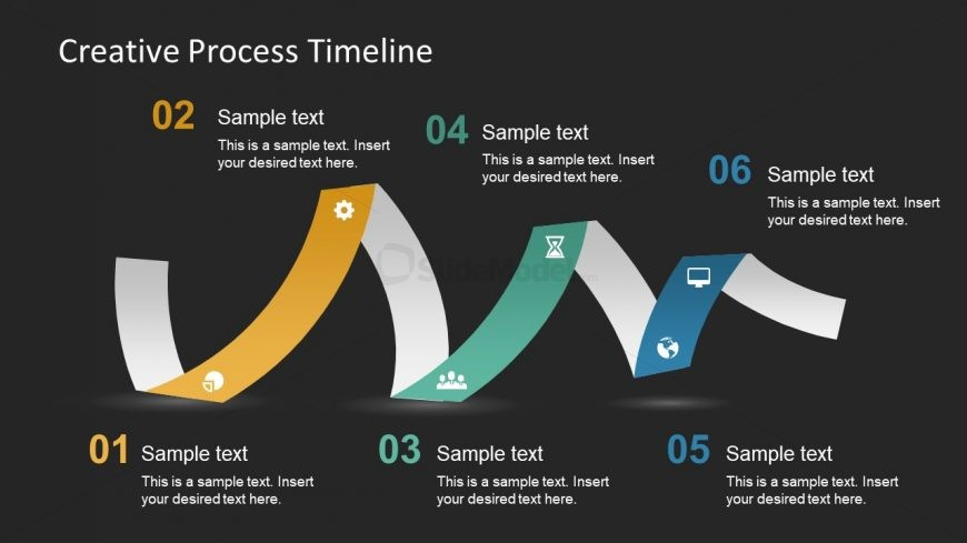 Infographic Steps Shape of Timeline Slide