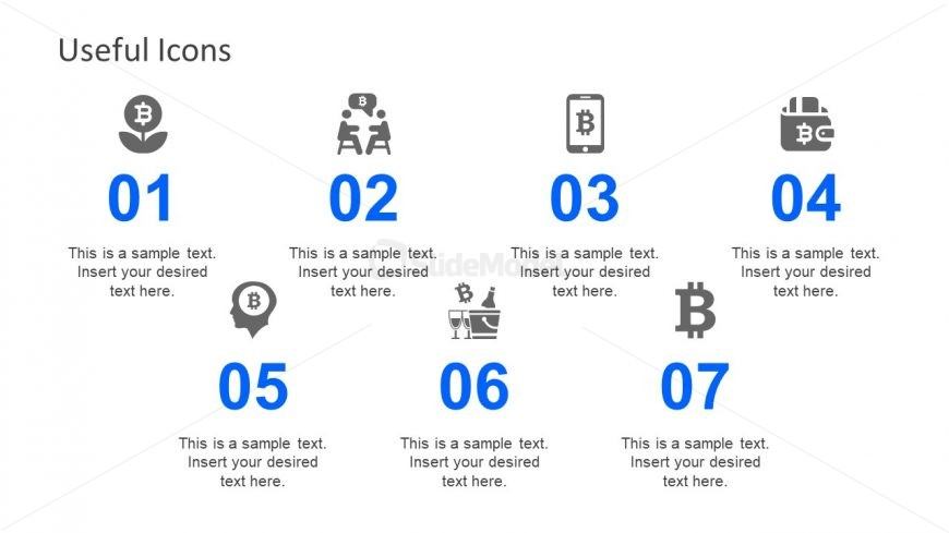 Bitcoin Currency Symbol Icons Slide