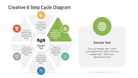 Professional 6 Step Creative Diagram Slide