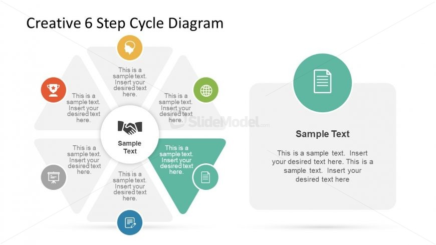 Editable 6 Segment Diagram Slide