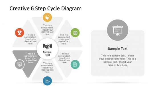 Creative PowerPoint Cycle of 6 Step