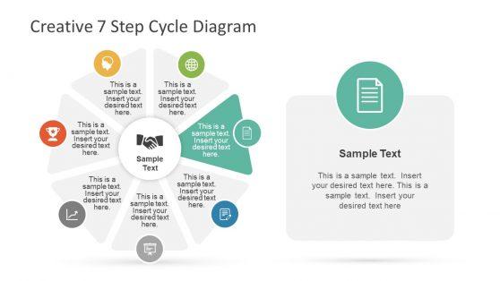 Seven Segment Circular Flow PowerPoint
