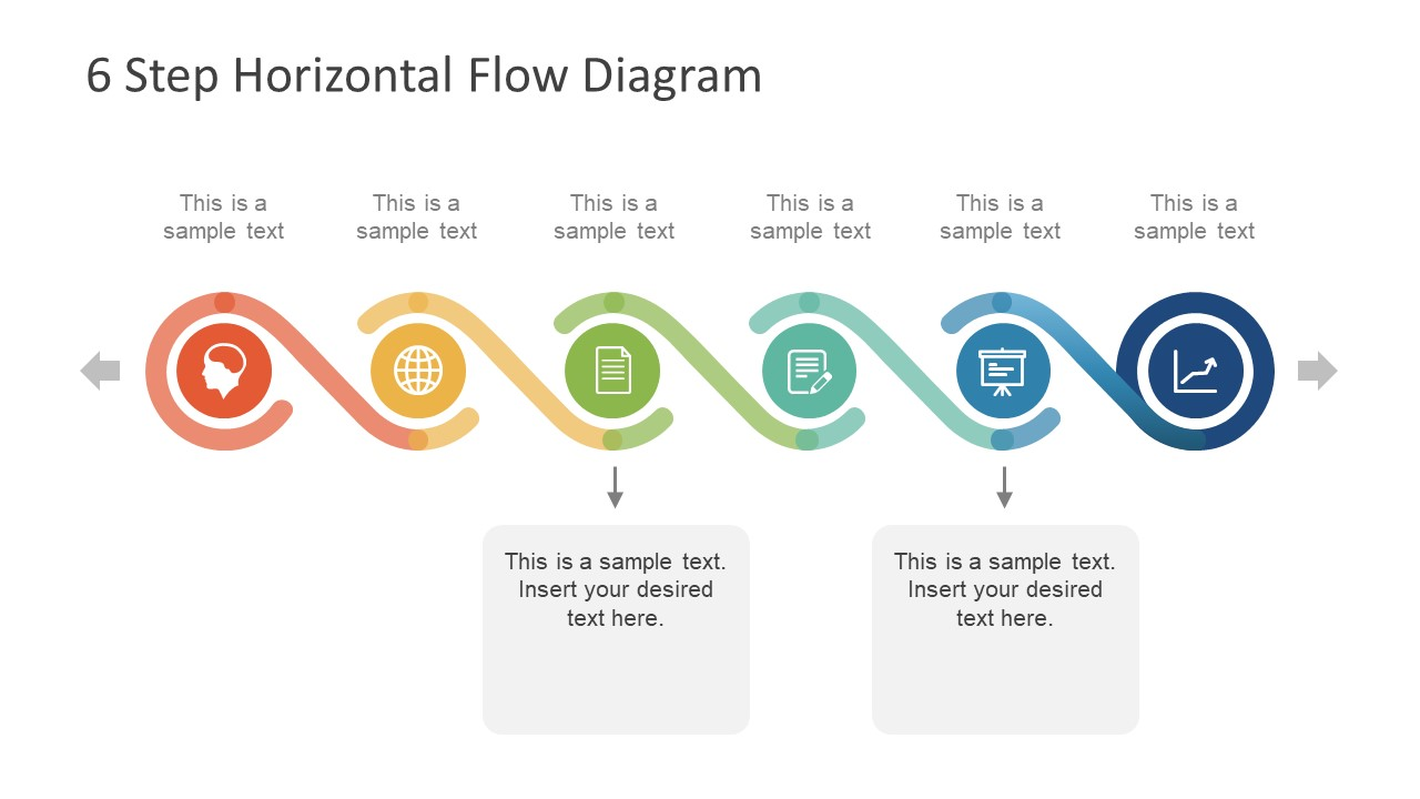 Process Flow Diagram of Infographics; Horizontal Six Step Template Diagram  ...