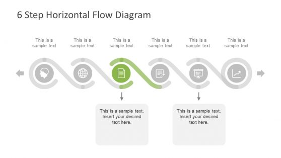 Horizontal Sequence Template of PowerPoint